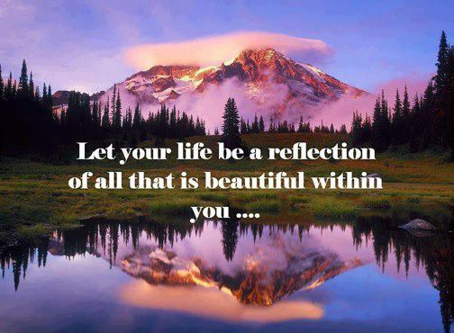 Let your life reflect the beauty within you – Actspot's Blog