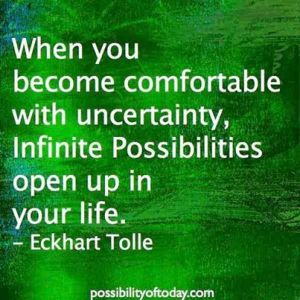 19- 23 July 15-Uncertainty has one certainty - possibilties