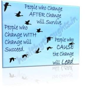 23- Your Response to change determines makes the difference