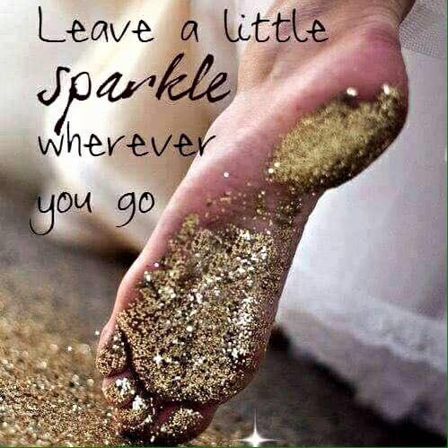 15- Leave a little sparkle