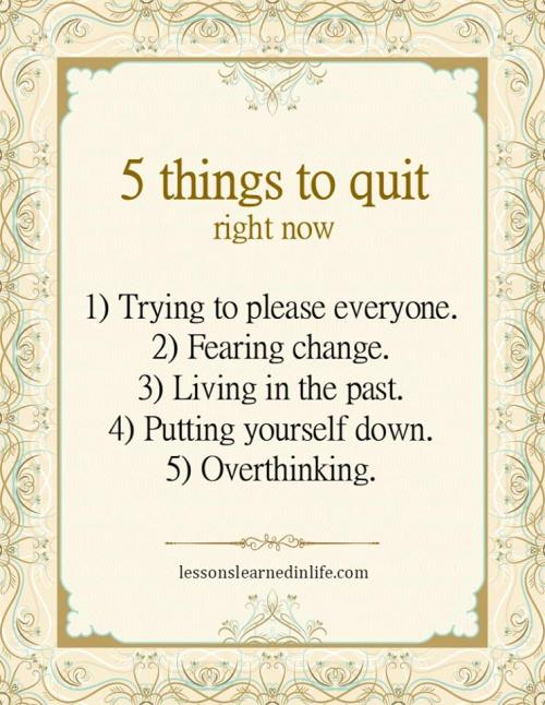23- Five things to quit