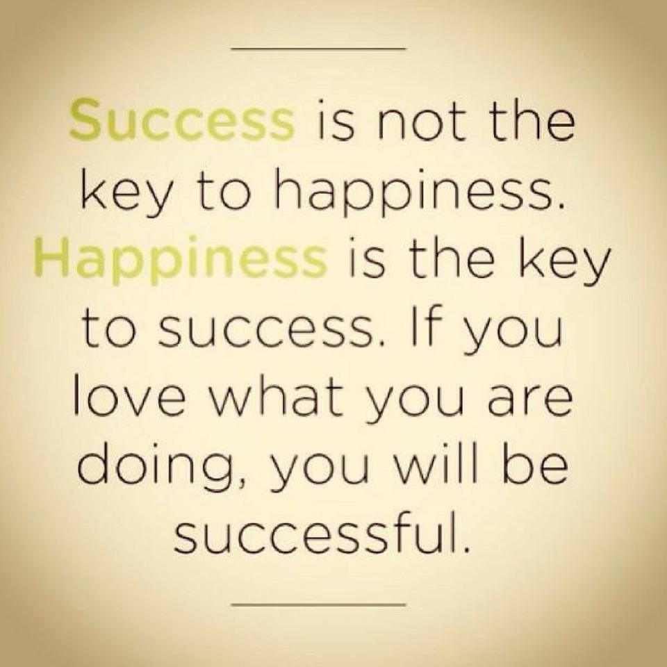 success and happiness All of us want to be successful, but there are many definitions of success i am a firm believer that the best definitions of success must include happiness.