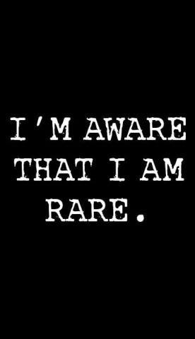 36- I am rare