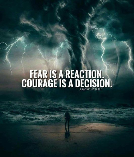 Fear and Courage – the difference is…