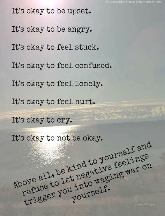 It is ok to be not ok