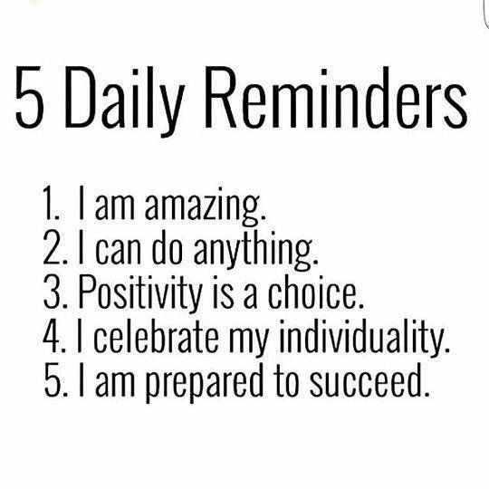 Reminders to succeed