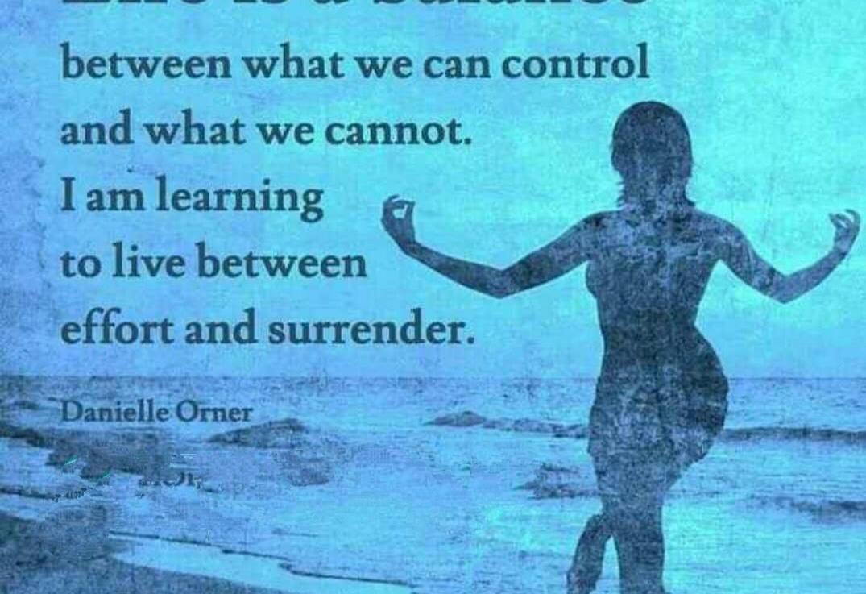 Life is a balancingact